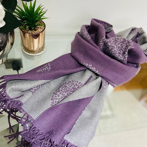 Reversible Warm Tree Of Life Print   Purple