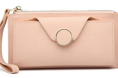 Pebbled Wallet/Clutch Pink