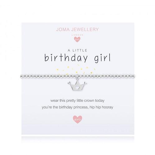 Children's A Little Birthday Girl Bracelet