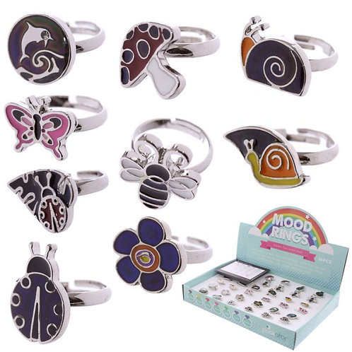 Cute Kids Animal, Bug & Flower Mood Rings