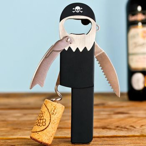 The Pirate Bottle Opener & Corkscrew