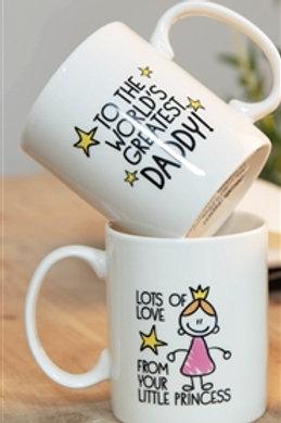 Daddy, Princess Mug