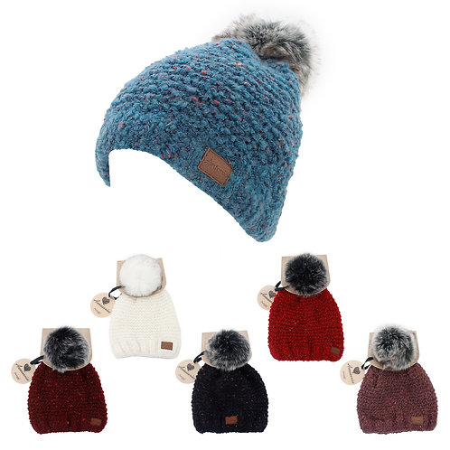 Winter Pom Pom Hat