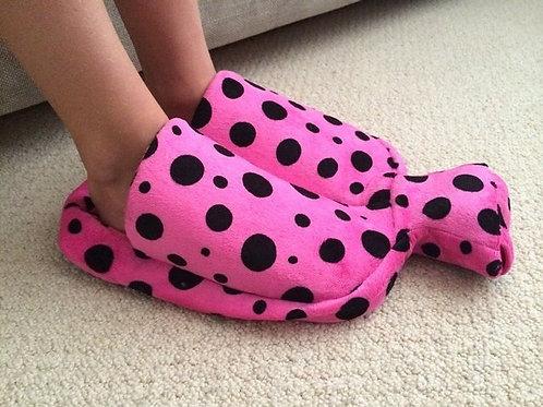 Pink Spot Foot Water Bottle