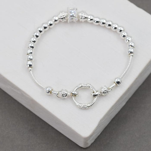 Open Circle Crystal Featured Bracelet