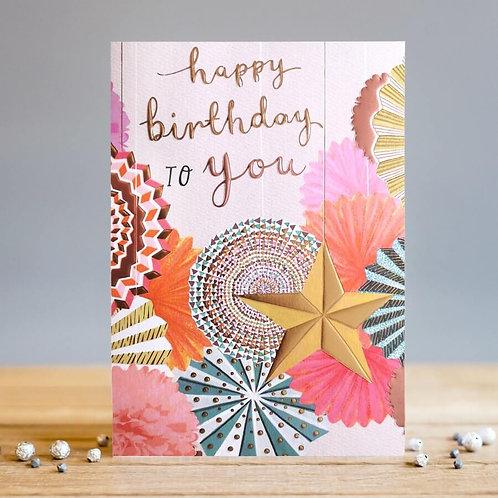 Birthday Fans Card