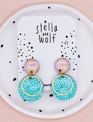 S&W Abstract Polka Dot Circle Earrings