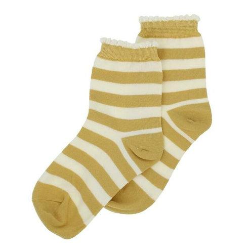 Ochre Stripe Socks