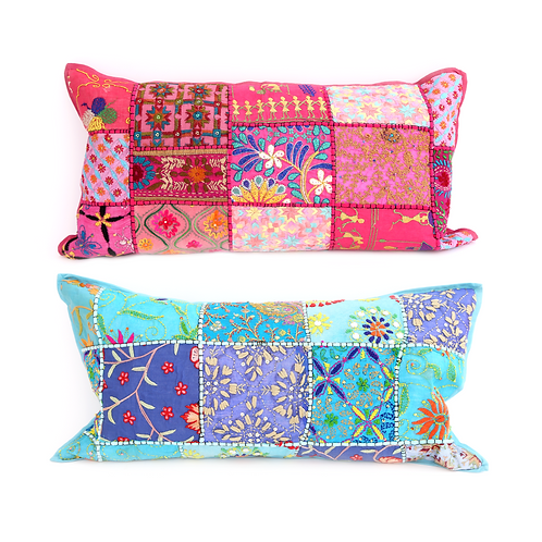 Rectangular Indian Patchwork Cushion