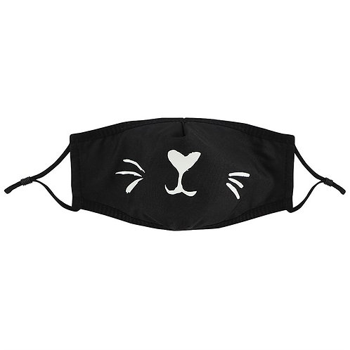 Black Cat Reusable Face Covering