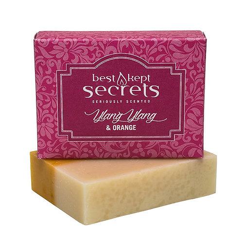 Natural Handmade Boxed Soap - Ylang Ylang & Orange