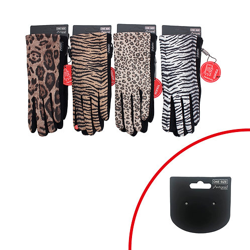 Smart Touch Leopard Print Gloves