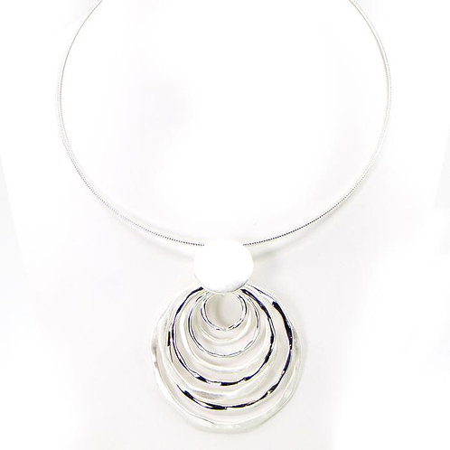 Multi Layer Open Circle Necklace