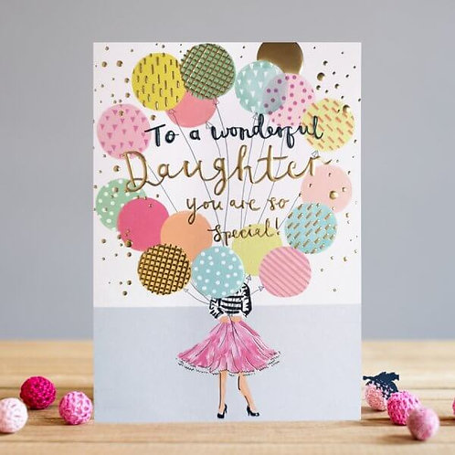Daughter Balloons Card