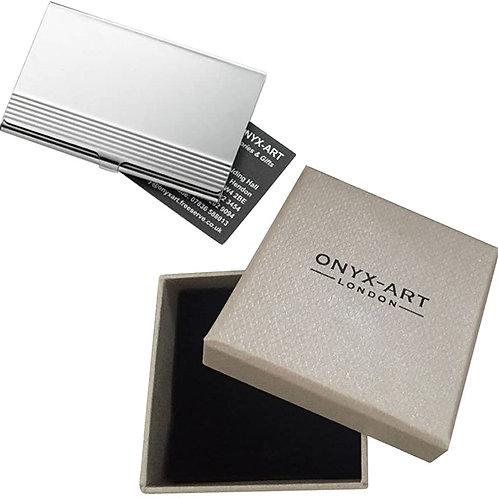 Chrome Business Card Holder