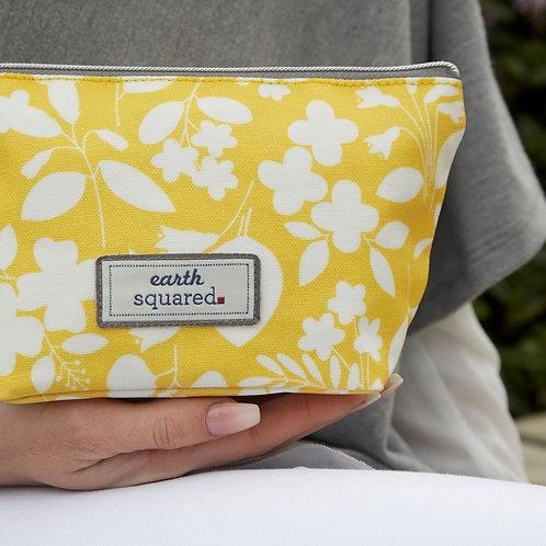 Oil Cloth Make Up Bag | Yellow