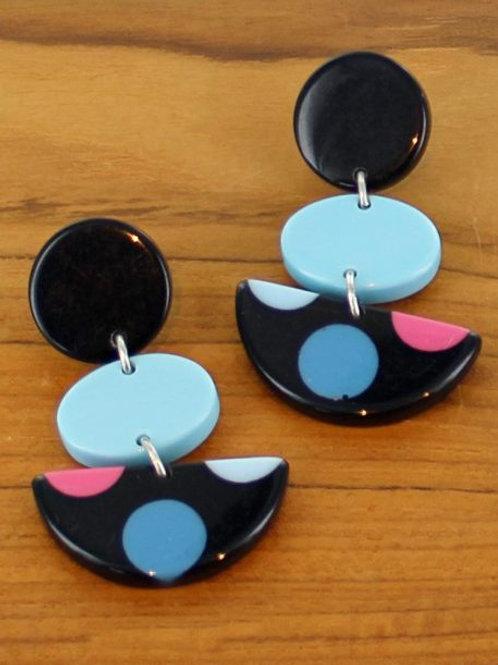 Multi Colour Resin Drop Earrings