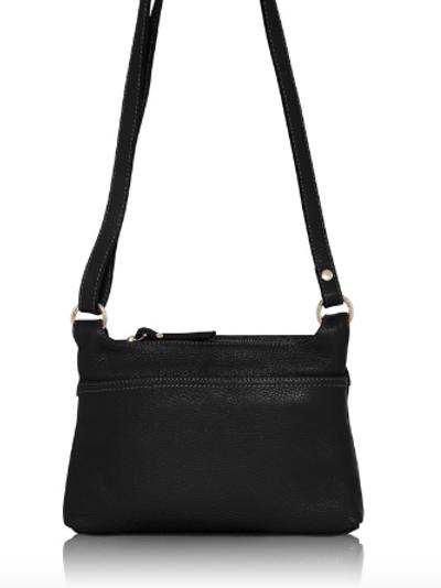 Leather Crossbody Bag | Black