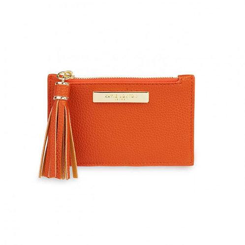 Katie Loxton Tassel Card Holder   Burnt Orange