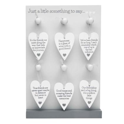 Friendship Wooden Heart Mini Signs
