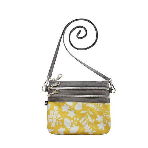 Oil Cloth Pouch Bag | Yellow