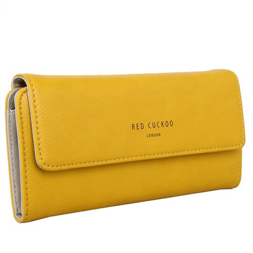 Red Cuckoo Fold Over Purse | Yellow