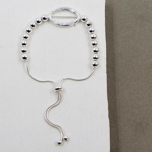 Open Oval Beaded Bracelet