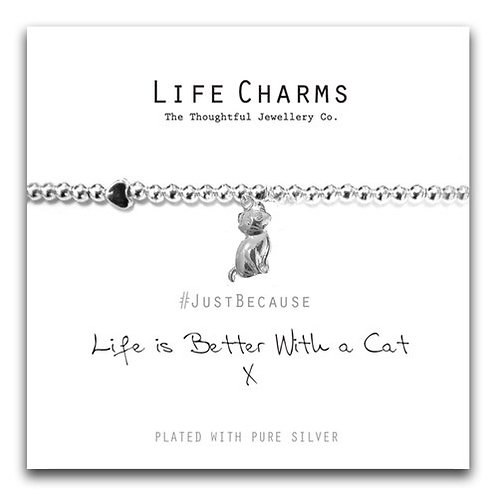 Life Charms, Better With A Cat Bracelet