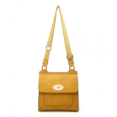 Satchel Style Bag - Mustard