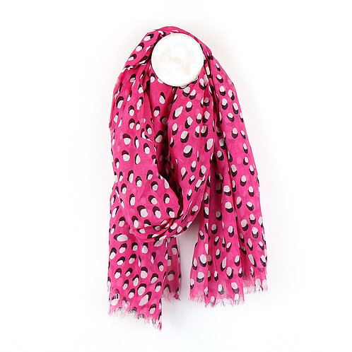 Pink Scarf With White Dot & Shadow