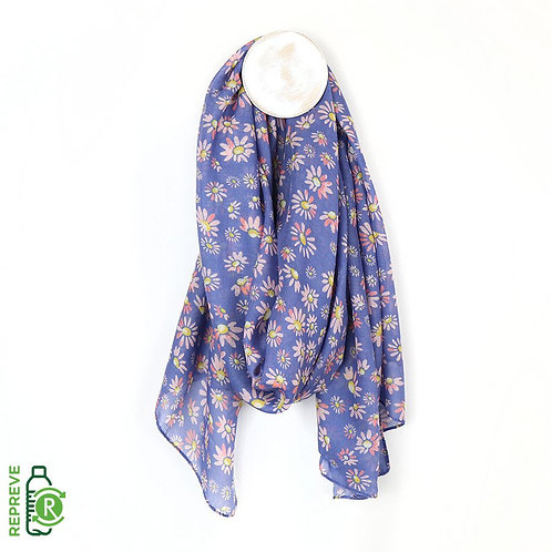 Recycled Lilac Daisy Print Scarf