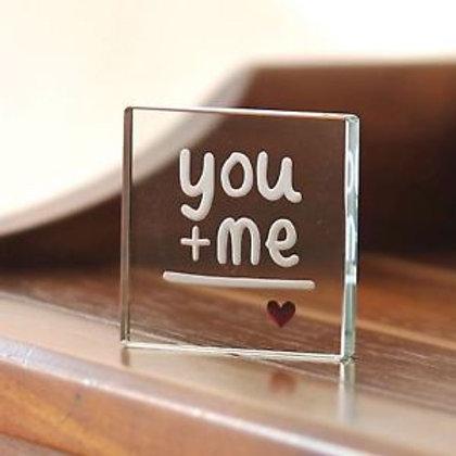 Spaceform Miniature Glass Token | You + Me