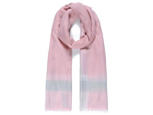 Pink Colour Block Print Scarf