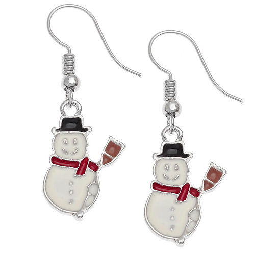 Christmas Earrings (Snowman)