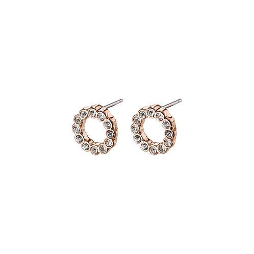 PILGRIM: Malin Open Circle Earrings RG