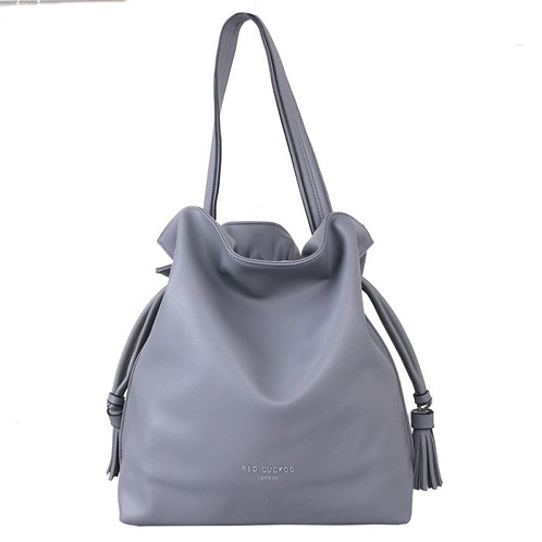 Red Cuckoo Grey Shoulder Bag