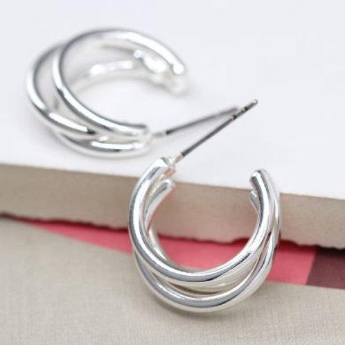 Triple Cuff Hoop Earrings
