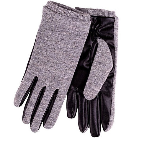 Isotoner Ladies Knit Glove with PU Palm