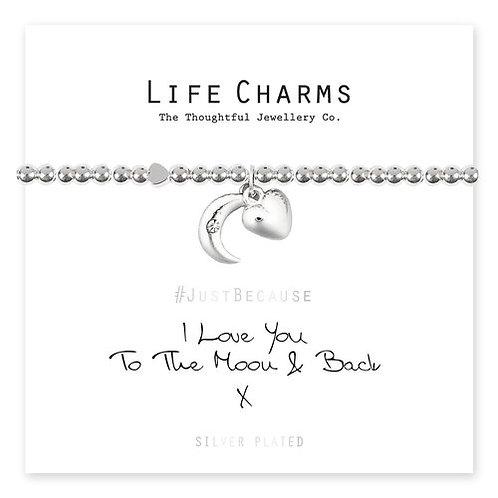 Life Charms, I Love You To The Moon & Back Bracelet