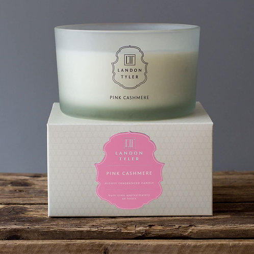London Tyler Pink Cashmere 3 Wick Candle