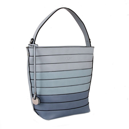 Red Cuckoo Blue Bucket Bag With Ombre Gradient Effect
