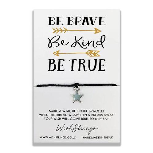 Wishstring Bracelet   Be Brave Be Kind...