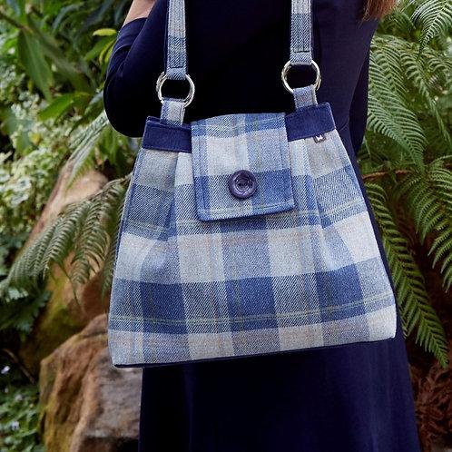 Loch Tweed Ava Shoulder Bag | Blue