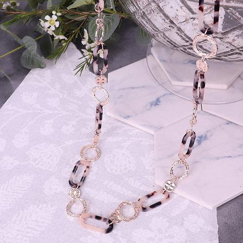 Long Resin Interlocking Necklace