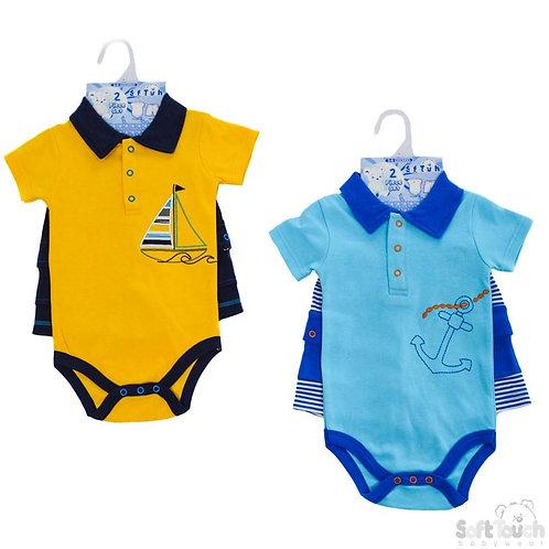 Baby Boys Bodysuit & Shorts Set