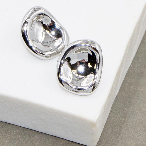 Soft Hammered Stud Earrings