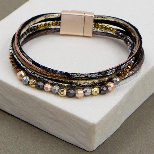 Multi Strand Pu Bracelet