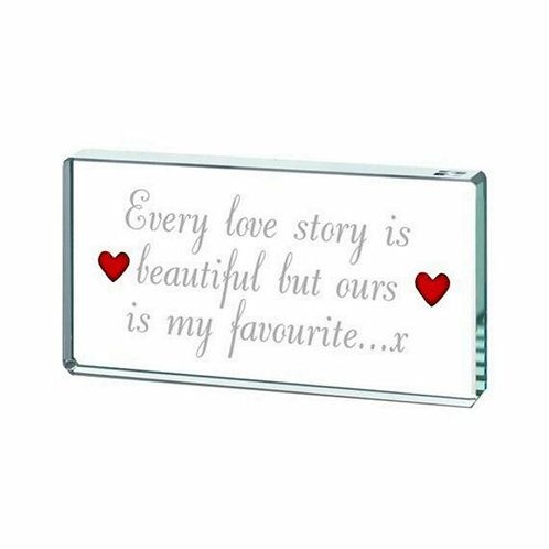 Spaceform Miniature Glass Token | Every Love Story