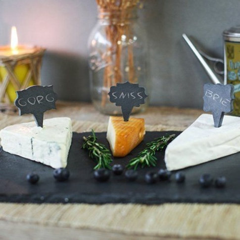 Slate Cheese Markers (S/3) - Mix