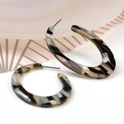 Grey / Black Resin Hoops